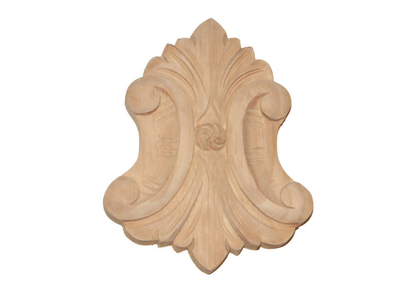 Decorational scroll carving pine sc